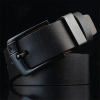 Cinturón de los hombres de la nueva moda con la hebilla de la aguja Cinturón Casual para los hombres Brown Black Coffee 3 Colores PD001
