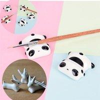 Lindas Cerámica Panda Chopsticks Soporte Soporte Titular de Rack Pen Soporte Unique Pequeños Accesorios de Escritorio Cocina Suministros