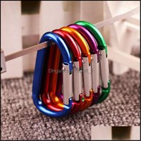 Keychains Fashion Aessoriesoutdoor Safety Buckle Keychain Hook Sports Aluminium Alloy Climbing Key Chain Button Carabiner Shape Keyring Cam