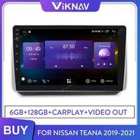 Voyageur multimédia de navigation GPS de voiture pour Teana 2021-2021 Android Radio Head Unité stéréo Écran Touch HD Touch 128 Go de voiture DVD
