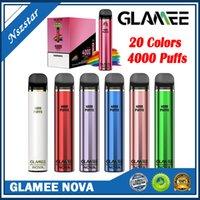 GLAMEE NOVA Kit de périphérique jetable 2200mAh Batterie préremplie 16 ml Pod 4000 Puff Vape stylo véritable vs bar plus