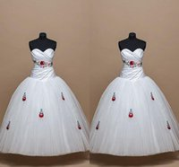2022 Cute Embroidered Wedding Dress White Pleated Sweetheart Lace-up Ball Gown Bridal Dresses Plus Size Women Special Occasion