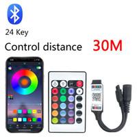 Controlador de LED RGBW Bluetooth RGBW com controle remoto IR com bateria para DC 12V RGB 2835 LED Light Modules Light
