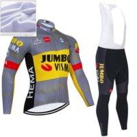 Winter 2021 JUMBO VISMA CYCLING JACKET 20D Bike Sportwear Ropa Ciclismo MEN Thermal Fleece BICYCLING Jersey Maillot