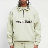 Herren HALBE ZIP PULLOVER Pullover High Hals Lässige Übergroße Jumper Sweatshirts Männer Frauen Hip Hop Skateboard Streetwear