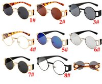 Price Frame Small Sunglasses Round Women Men Fashion Designer Mirror 10PCS Glasses Sun Factory Oculos Brand Modis 8 Colors Vintage Eyew Gtis