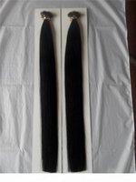 """Hohe Qualität 14 """"-28"""" Nano Ringe Indische Remy Human Hair Extensions 100g pk 1 g Farbe # 1 Jet Black Nano Tip Haarverlängerungen"""