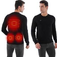 Paratago Winter USB riscaldamento maglione uomo riscaldato abbigliamento caldo maschio maglia a maniche lunghe maglioni a maniche lunghe all'aperto giacca da calore elettrica P5102