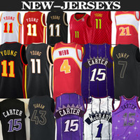 Vince 15 Carter Retro Tracy 1 McGrady Basketball Jersey men Trae 11 Young Spud 4 Webb Jerseys new basketball jerseys