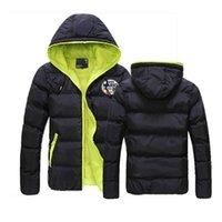 Men's Hoodies & Sweatshirts Novelty Plumber Printing Customize Down Warm Jackets Male Zipper Coat Fashion Slim Coats Hooded College Style
