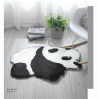 60x90 Artificial wool panda Koala Animal Shape Rug Mat Mattr...