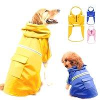 معطف واق من المطر للكلاب ماء الكلب معطف سترة ملابس الكلب عاكس للكلاب المتوسطة الصغيرة الكبيرة labrador S-5XL الألوان 201015