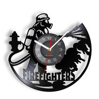 Wall Clocks Firefighters At Work Fire Protection Rescue Modern Design Clock For Control Department Fireman Silent Swept Watch Decor
