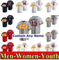 # 13 Ronald Acuna Jr Atlanta Men 여성 키즈 청소년 5 프레디 프레 니 (Freeddie Freeman) 7 Dansby Swanson 24 Danion Sanders Chipper Jones Braves Baseball Jerseys