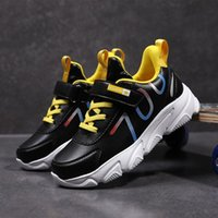 Sneakers 2021 Spring Casual Youth Boys Shoes Hook & Loop Flats Kids Leather Teenage Trainers Children Running