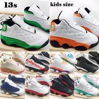 Jumpman 13 Kids Basketball Chaussures 2021 Blanc chanceux Vert Starfish CNY Il a eu jeu Chicago Babys Babys Baskets Enfants Enfants Taille 22-35