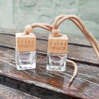 Оптом 8 стилей пустые стеклянные бутылки диффузора для парфюмерии с деревянной крышкой освежитель воздуха подвесной