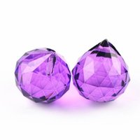 Violeta 15mm-40 mm iluminación de cristal colgante Bolas facetadas Piezas de araña Prismas para la decoración de la boda