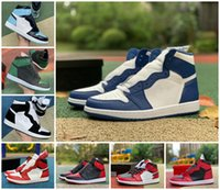 Kentucky 1 Hohe Og Basketballschuhe Jumpman verboten Schwarz Blau weiße Spitze 1s Kiefer Green Court Lila Retroes Chicago Reverse Bred Twist Furchtlose Obsidian Sneakers