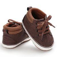 First Walkers Baby Shoes Boy Born Infant Toddler Casual Comfor Cotton Sole Anti-slip PU Leather Crawl Crib Moccasins