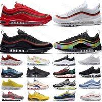 2021 Hot 97OG scarpe da corsa Triple PRM Black White Worldwide Mens Donne Cuscino Sneakers Sneakers Gradiente Fade Anelli Pack Trainer Tag