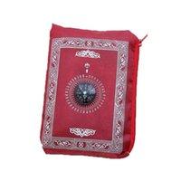Outdoor Gadgets Muslim Prayer Rug Waterproof Travel Pocket Pilgrimage Blanket Meditation Carpet Compass Mat Worship With T7f2