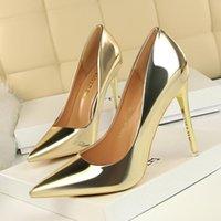 Women Dress Shoes Red Bottom High-heeled Luxurys Designers Shoe High Heels Black Golden Gold Wedding Bottoms 34-42 BG003-007