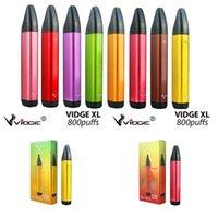 Authentic Vidge XL 6% 800 Puffs Dispositivo desechable Dispositivo POD Starter Kit 550mAh Batería 3ml Capacidad Cartucho Vape E CIG