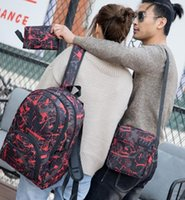 Hot Outtür Outdoor-Taschen Camouflage Reiserucksack Computertasche Oxford Bremskette Mittelschule Studententasche Viele Farben Mix