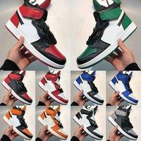 Ayakkabılar [Kutu Ile] Tercihli 1 OG Bio Hack UNC UNC CHICAGO Patent Jorden Havalar Basketbol Jumpman 1s Paramparça Geze Kravat Boya