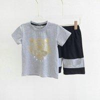 أطفال بنات بنين النمر رياضية ماركة أزياء 2 قطع تساتين مجموعة الزى + قصيرة بانت الترفيه رياضية رياضية الأطفال المصممين ملابس 5 ألوان