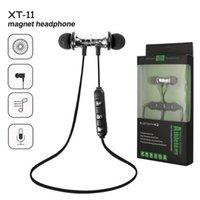 XT11 Magnet Sport Kopfhörer BT 4.2 Funk-Stereo-Kopfhörer mit MIC-Ohrhörer Bass-Headset für iPhone Samsung LG Smartphones mit Kleinkasten