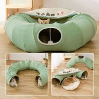 Cat Beds & Furniture 3 In 1 Multifunctional Tunnel Litter Four Seasons Universal Channel Toy Ground Dragon Pet Supplies