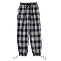 Frauenhose Capris Plaid Harem 2021Spring Harajuku Beiläufige Streetwear Hohe elastische Taille Vintage Vielseitige Baggy Binde Füße Hose