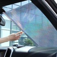 자동차 차양 개폐식 오토 사이드 윈도우 Sunshades 40 * 60cm / 40 * 125cm Sun Shade Visor 롤러 블라인드 보호 필름 리어