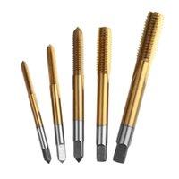 Профессиональные буровые биты Универсальные 3 мм-8 мм HSS Титановая ручная крана, нажатие винтовой резьбы метрические заглушки набор M3 -M8 прямой флейты