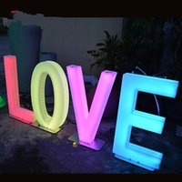 Party Decoration 80CM Height Rechargeable Led illuminated Alphabet Letters LOVE Wedding Centerpieces Road Lead Backdrop Props Supplies