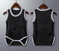 Designer recém-nascido bebê roupas basquete jerseys criança tracksuit meninas meninos roupas romper jumpsuits infantil macacão xzt034