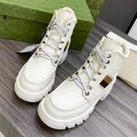 Interlocking boots leather check lace-up shoes ankle combat boot low heel Martin booties luxury designers brands shoe factory footwear women