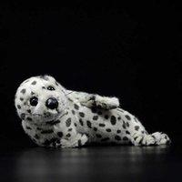 28cm PHOCA LARGHA Simulation mignonne gris joint tacheté poupée poupée douce peluche peluche jouet de mer Animal de mer beau enfants enfants cadeaux Q0727