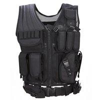 Vêtement Vest Tactical Chemise Militaire Uniforme Militar Armée Combat Chemise Colète Tatico Hunting Gilet multifonctionnel