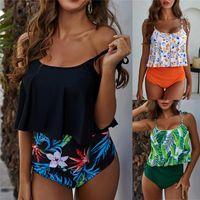 Bras Sets Swimwear Women Bikini 2021 Mujer High Waist Swimsuits Ruffles Bikinis Swimming Suit For Womens Tankinis Bathing Suits Biquini 50