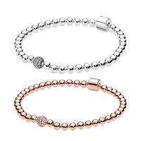 Nouveau 100% 925 Sterling Sterling Pandora Charmes Perles PAV Bracelet Créez un look chic Punk Styles Gife DIY Gife
