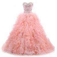 Party Dresses Women Sweetheart Neckline Wedding Long Formal Evening Dress Light Pink Quinceanera Mother Of The Bride Floor Length Gown