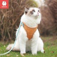 الياقات القط يؤدي kimpets الجر حبل مكافحة كسر بعيدا الصدر تسخير أكتاف المشي قابل للتعديل التعادل الحيوانات الأليفة