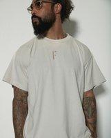 2021 봄 여름 힙합 7th Flocking 인쇄 티 스케이트 보드 T 셔츠 남성 여성 대형 짧은 소매 캐주얼 Tshirt