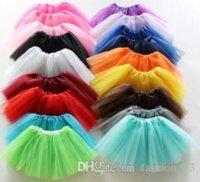 18 colors Top Quality candy color kids tutus skirt dance dresses soft tutu dress ballet skirt 3layers children pettiskirt clothes 10pcs lot