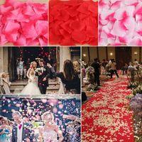 100piece / lot 5 * 5 سنتيمتر الزهور الاصطناعية محاكاة بتلات روز زينة الزفاف غرفة الزواج الأزياء روز الزهور