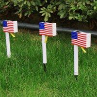 Outdoor Solar Lamps Light LED Garden Lighting Decorative Powered Solars US flag lights for Porch,