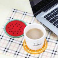 2021 Fruta Quente Silicone Coaster Tapetes Padrão Colorido Rodado Copo Titular Coxim Espessura Bebida Table Utenseiros Canecas De Canecas